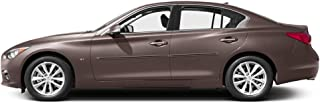 Dawn Enterprises CI-Q50 Color Insert Body Side Molding Compatible with Infiniti Q50 - Chestnut Bronze (CAN) with Brite RED Insert (20)
