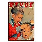 GGRFFY Cartel de Chapa de Metal Vintage Cartel de Pared de barbería Bar Club Decoración del hogar Placa de Metal 20x30cm 15
