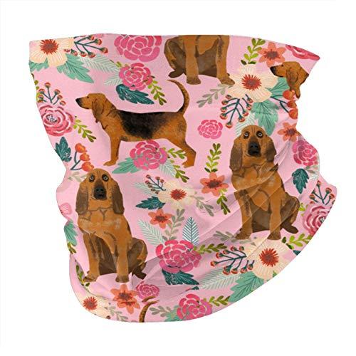 Xinflag@10 Mascarilla facial para perros y florales, color rosa, multifuncional, bandanas y polaina para el cuello, variedad de tubos, bufanda, antipolvo, máscara facial