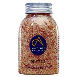 100% NATURAL - An infusion blend of chamomile, lavender, frankincense, jasmine, bergamot and rose absolute essential oils and more in pure Himalayan bath salts. Vegan and cruelty-free. DE-STRESS –This powerful fusion of Absolute Aromas de-stress esse...