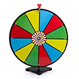 MIDWAY MONSTERS 24' Classic Spin & Win Prize Wheel, 12 Slot Dry Erase Tabletop Game