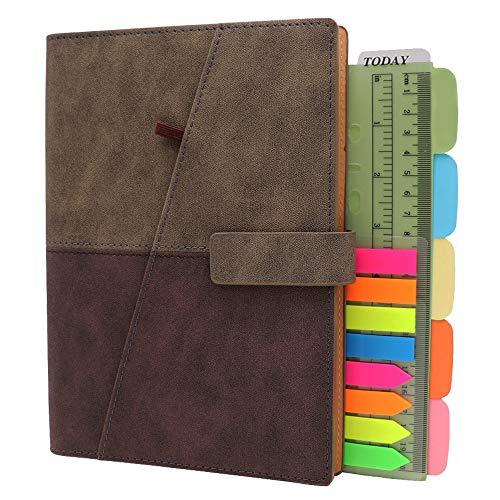 TSY Notitieboek navulbaar, PU-leer, zachte afdekking, persoonlijke organizer, planner, ringband, reisdagboek met…