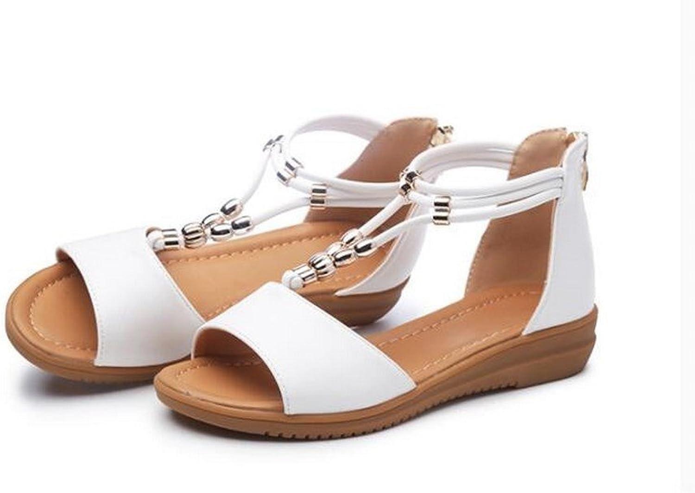 BAJIAN-LI Hohe heelsdamen Sandalen, Sommer Peep-toe Halbschuhe Damen Flip Flip Flip Flops Sandalen Schuhe  77f580