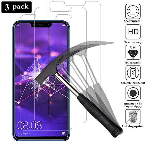 ANEWSIR [3 Pacco] Pellicola Vetro Temperato per Huawei Mate 20 Lite, Pellicole Protettive in Vetro Temperato per Huawei Mate 20 Lite [HD Alta Trasparenza] [Anti-Macchia, Anti-graffio, Anti-Impronta]