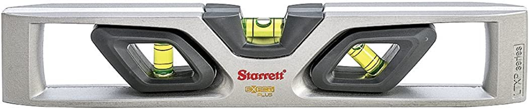 Starrett Exact Plus KLTXP10-N Die-Cast Aluminum Torpedo Magnetic Level with 3 Plastic 360° Vials, 10