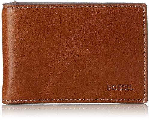 Fossil Herren Geldbörse– Hugh Bifold Geldklammer, Braun (Brown), 6.99x1.27x10.16 cm