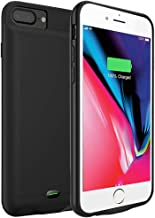 Battery Case for iPhone 6 Plus / 6S Plus, 5000mAh Portable Protective Charging Case Extended Rechargeable Battery Pack Charger Case Compatible with iPhone 7Plus / 8 Plus Ultra-Thin - Black (5.5 inch)