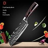 Cuchillo Chef, Cuchillo de Cocina Nuevo, Acero Inoxidable, Mango Ergonómico, Cuchillos de Cocina Multifuncionales/Múltiples para Carne Frutas Verduras Pan