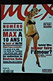 MAX 108 N° 108 NUMERO COLLECTOR 10 ANS 1988 & 1998 BEATRICE DALLE ADRIANA LIMA PHOTOS ELLEN VON UNWERTH CAMERON DIAZ