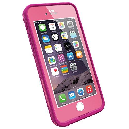 """LifeProof FRĒ iPhone 6 ONLY Waterproof Case (4.7"""" Version) - Retail Packaging - POWER PINK (LIGHT ROSE/DARK ROSE)"""