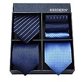 ネクタイ 3本セット 結婚式 [ HISDERN(ヒスデン) ] ビジネス 青 ネクタイ チーフ メンズ ネクタイ セット フォーマル ネクタイ ブランド プレゼント父の日 TB3009