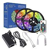 LEDテープ RGB 5050 10M 300連 LEDテープライト 防水IP65 正面発光 高輝度 カラー選択可能 ストリップライト テープライト 17キーリモコン操作 12V 5A 電源