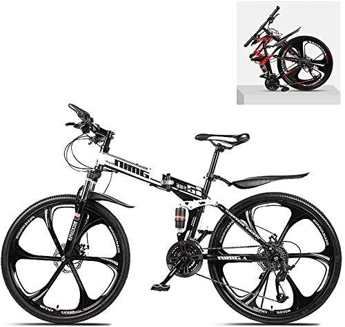 Bicicletas de montaña plegable de 26 pulgadas de velocidad variable 21/24/27/30 marco todo terreno rápida plegable montaña de adulto fuera del camino de la bicicleta doble de acero al carbono de alta