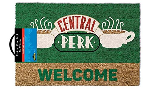 Friends Door Mat Felpudo Central Perk Welcome, Felpa, Multicolor, 40 x 60 cm