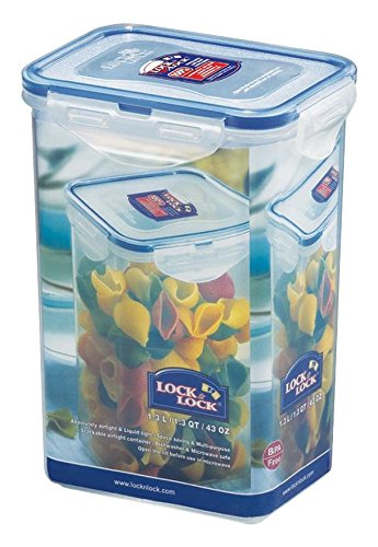 LOCK & LOCK Frischhaltedose, Vorratsdose, transparent, 1,3 l, rechteckig hoch, 6 Stück, 135 x 102 x 185 mm
