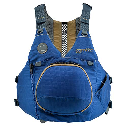 Astral, Sturgeon Life Jacket PFD for Kayak Fishing, Recreation and Touring, Storm Navy, M/L