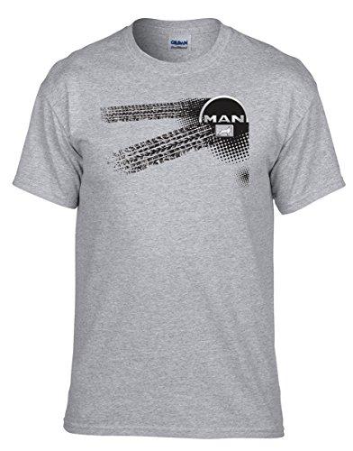 Man LKW - Auto Logo car T-Shirt -046 - Grau