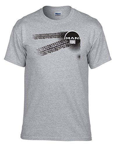 Man LKW - Auto Logo car T-Shirt vor Fun Grau T-Shirt - 046 -Grau (XL)