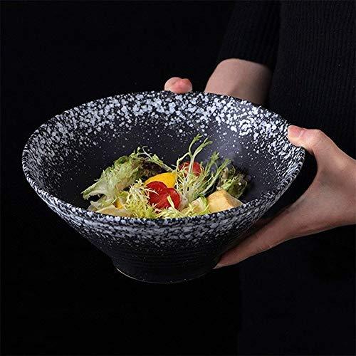 LIXUE Céramique Grande Soupe Profonde Ramen Bol Creative Pâtes Nouilles Salade De Fruits Bols Four Micro-ondes Safe Rétro Mixage Bol Ensemble (Size : 8 inches)