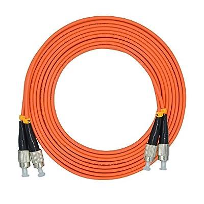 Jeirdus LC SC FC ST Duplex 50/125 OM2 Multi-mode Fiber Optic Cable Jumper Optical Patch Cord
