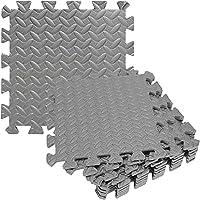 WSZYBAY フォームエクササイズマット、ジムフロアリングマット、36ピースパズル エバエフロアマット、ホームワークアウトのための非スリップゴムクッションヨガのエクササイズマット、グレー (Color : Gray)