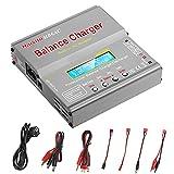 Haisito Cargador lipo, descargador de Cargador de Equilibrio con Fuente de alimentación Dual AC / DC para batería LiPo / Li-Ion / Life (1-6S), NiMH / NiCd (1-15S), PB (2-24V) (Cargador de batería RC)