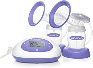 Lansinoh Signature Pro Double Electric Breast Pump, Portable Pump with LCD Screen and Large Buttons, Pump Milk for Breastfeeding, Pumping Essentials