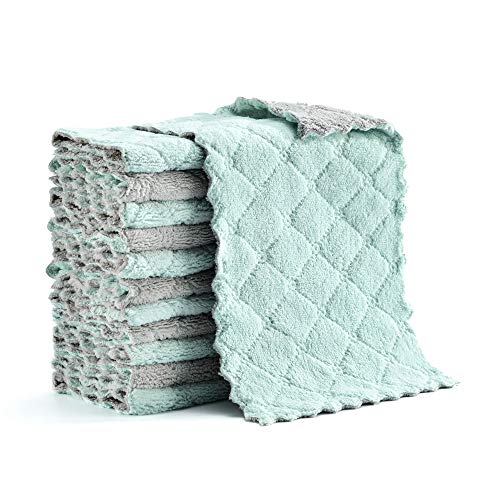 Hyperspace Microfiber Cleaning Cloth, Kitchen Towels, Double-Sided Microfiber Towel Lint Free Highly...