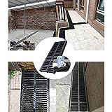 GZHENH Tapa del Filtro Desagüe De Ducha Lineal Drenaje Rápido Cortable Fácil De Instalar Sin Olor Jardín Al Aire Libre Sistema De Drenaje, 6 Tamaños (Color : Black, Size : 500x250x30mm)