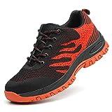 Scarpe Antinfortunistiche per Unisex, Uomo Donna Traspiranti Sneaker da Lavoro Leggere ed Eleganti Scarpe Sportive di Sicurezza