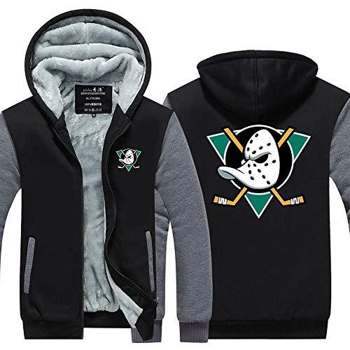 Herren Hoodie Jacke - Anaheim Ducks Eishockey Fan Frühling Pullover Baseball Jersey Sweater Mit Kapuze Lange Hülsen-Mantel Full Zip Cardigan,A-L