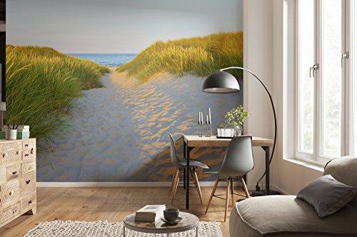 Komar - fotobehang SANDY PATH - 368 x 254 cm - behang, muurdecoratie, duim, zand, strand, zee, vakantie, Oostzee - 8-995
