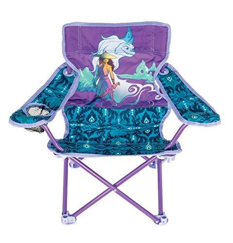Disney Raya Camp Chair for Kids, Portable Camping Fold N Go Chair with Carry Bag