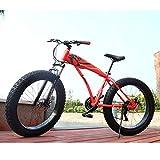 Adulto Fat Bike Antideslizante Outroad Racing Cycling,inchDe Acero De Alto Carbono BMX Todo Terreno Bicicleta De Trekking,Frenos De Disco Dobles Una Variedad De Colores B -30 Velocidad -26 Inch