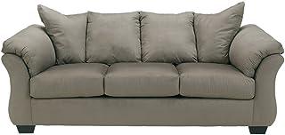 Signature Design by Ashley - Darcy Contemporary Microfiber Sofa, Cobblestone