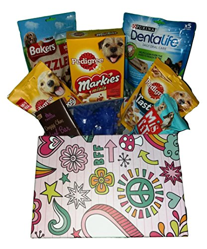 yummy yummy Dog Treat Hamper.Filled Dog Treats And Toy,