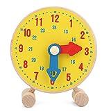 Juguete de reloj de madera, modelo de reloj de números para niños juguetes de aprendizaje para...