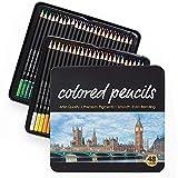ZHBD Colorear Lápices Bolígrafos 48/72 Colores pre-Afilado Grasa Lápiz de Color Conjunto de Dibujos Pintura Lápices Crayones para Principiantes o Artistas niños Adultos