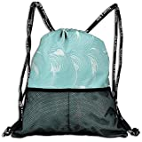ERCGY Sports Gym Sack Printed Drawstring Backpacks Bags Foam and Soap Carbonated Clean Fresh Hygiene...