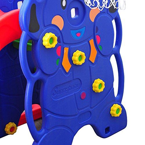 HOMCOM Kinderrutsche Kinder Rutsche Spielzeug Slide Gartenrutsche Babyrutsche (Elefantrutsche mit Schaukel) - 4