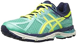 Green and yellow Asics women's runners