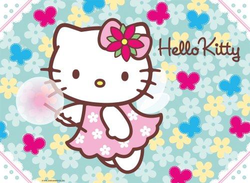 RAVENSBURGER Puzzle 300 Pezzi Hello Kitty, Multicolore, 4005556140091