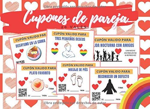 CUPONES DE PAREJA: TALÓN DE VALES CANJEABLES (DESAYUNO EN CAMA, MASAJES, BAÑO EN PAREJA...) | REGALO ROMÁNTICO Y ORIGINAL PARA TU PAREJA GAY | HOMBRE ... SAN VALENTIN |...
