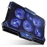 KEYNICE 冷却ファン ノートパソコン 冷却パッド 冷却台 LED搭載 超静音 USBポート2口 ……