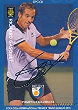 Richard Gasquet 2015 Epoch IPTL Tennis SILVER FOIL Facsimile Signature #/20 in MINT Condition! Rare Low Numbered Card of Tennis Star! International Premiere Tennis League! Imported from Japan!
