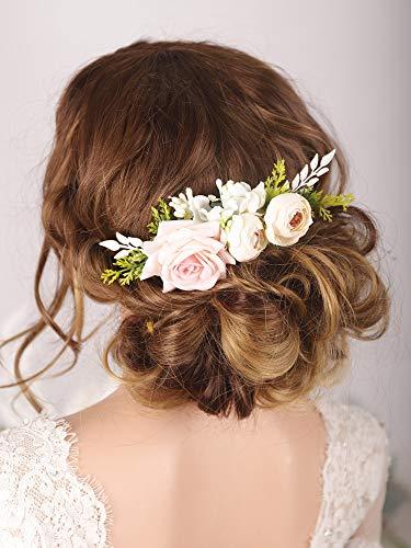 Kercisbeauty Haarkamm mit Blumenmuster, Weiß