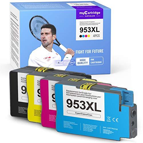 4 myCartridge SUPCOLOR 953XL 953XL Multipack remanufacturado y compatible para HP 953 953XL para HP OfficeJet Pro 7720 7740 8710 8715 8720 8725 cartuchos todo en uno