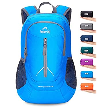 Venture Pal 25L - Durable Packable Lightweight Travel Hiking Backpack Daypack Small Bag for Men Women Kids (Blue)