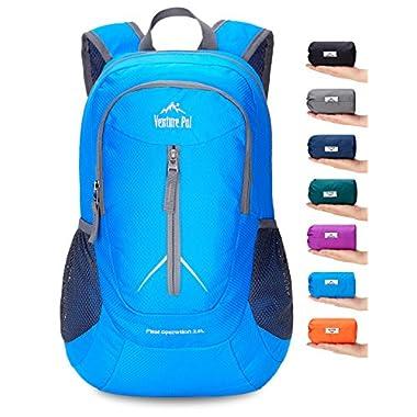 Venture Pal 25L - Durable Packable Lightweight Travel Hiking Backpack Daypack Small Bag for Men Women Kids (Blue)
