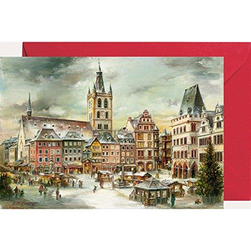 Ansichtskarte mit Adventskalender ''Trier Hauptmarkt''